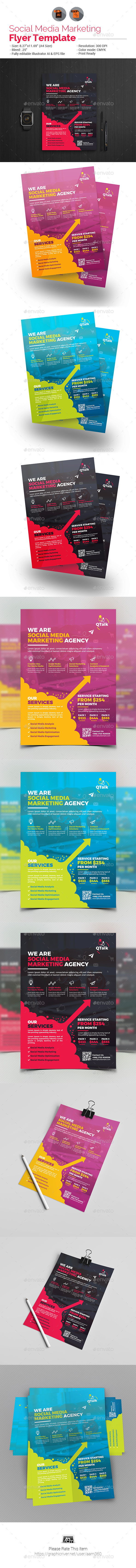Social Media Marketing Flyer V2 - Corporate Flyers