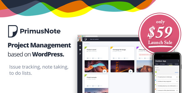PrimusNote - Project Management & Team Collaboration based on WordPress by Bebel [19287601]