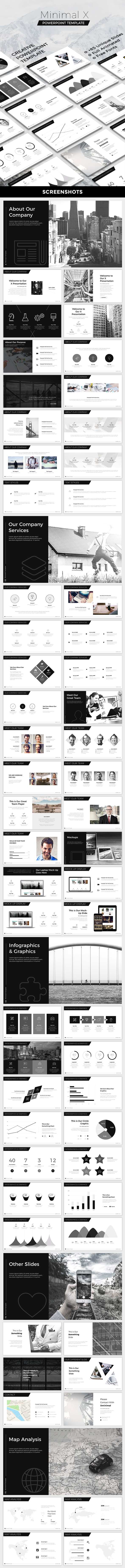 Minimal X Powerpoint Template - Creative PowerPoint Templates