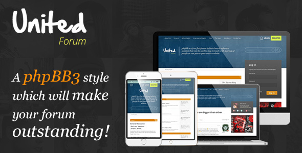Download UnitedForum - phpBB3 Forum Style nulled version