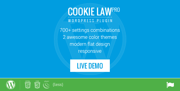 Responsive Cookie Law Consent Notification WP Plugin - CodeCanyon Item for Sale