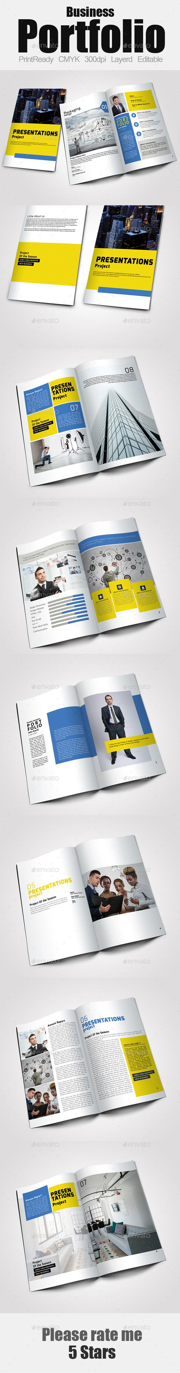 Business Portfolio Template - Portfolio Brochures