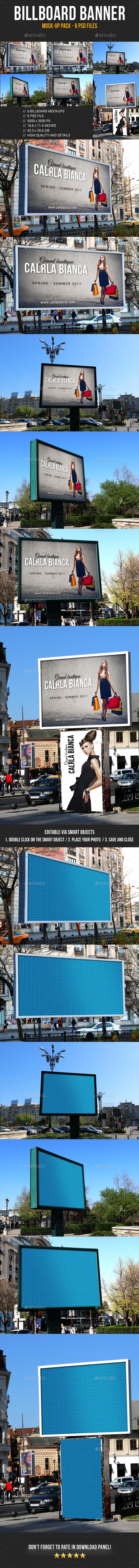 Billboard Banner Mock-Up Pack - Signage Print