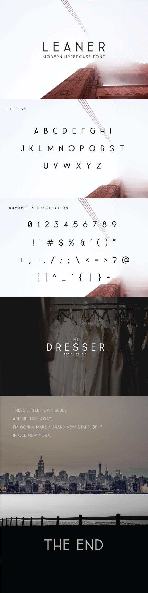 Leaner Typeface - Sans-Serif Fonts