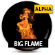 Big Flame With Alpha - Slow - VideoHive Item for Sale