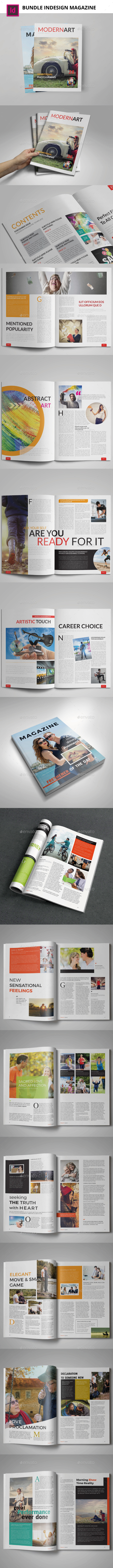 Bundle 5th Magazine Templates - Magazines Print Templates