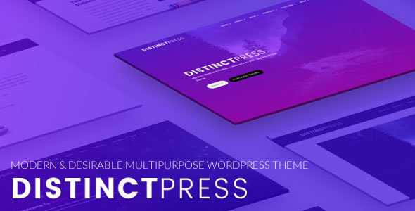 DistinctPress Pro – Modern, Multipurpose Creative WordPress Theme