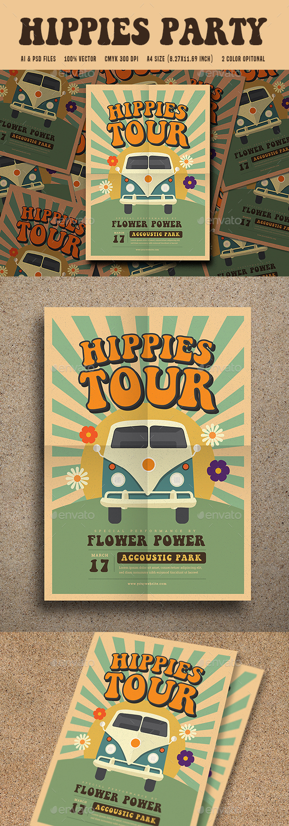 Hippies Party Flyer - Events Flyers