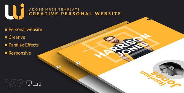 Uli – Personal Web Portfolio Muse Template
