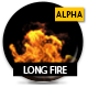 Long Fire With Alpha -  Slow - VideoHive Item for Sale