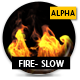 Turbulent Fire With Alpha - Slow - VideoHive Item for Sale
