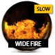 Wide Fire With Alpha - Slow 01 - VideoHive Item for Sale