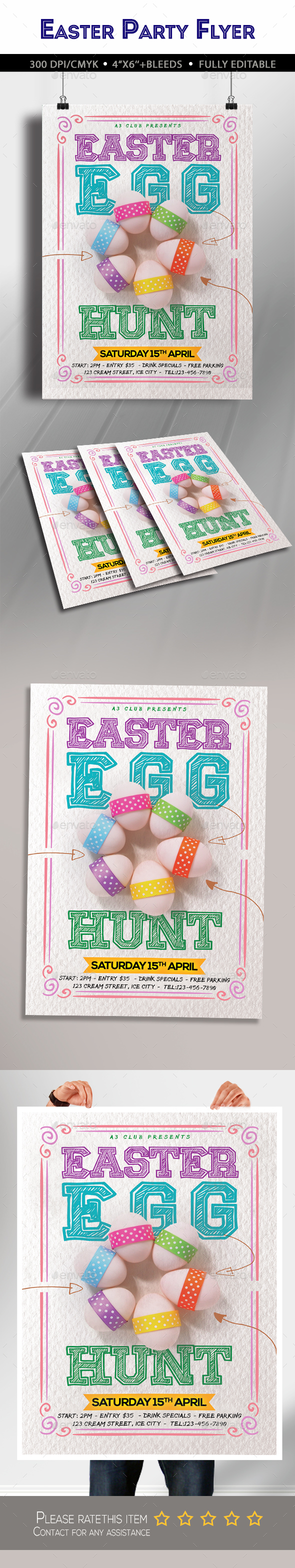Easter Egg Hunt Flyer - Clubs & Parties Events