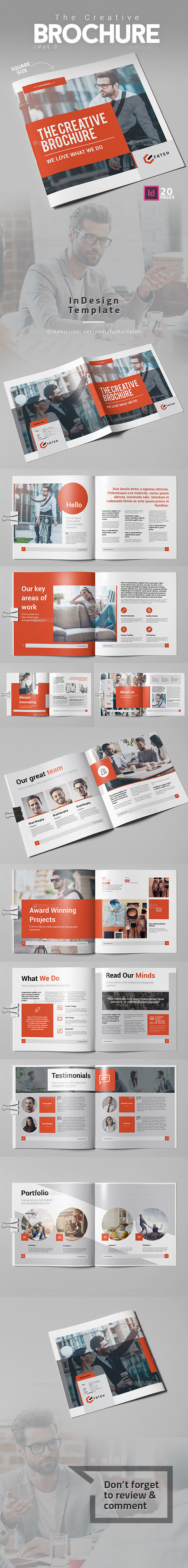 The Creative Brochure Vol.3 Square - Corporate Brochures