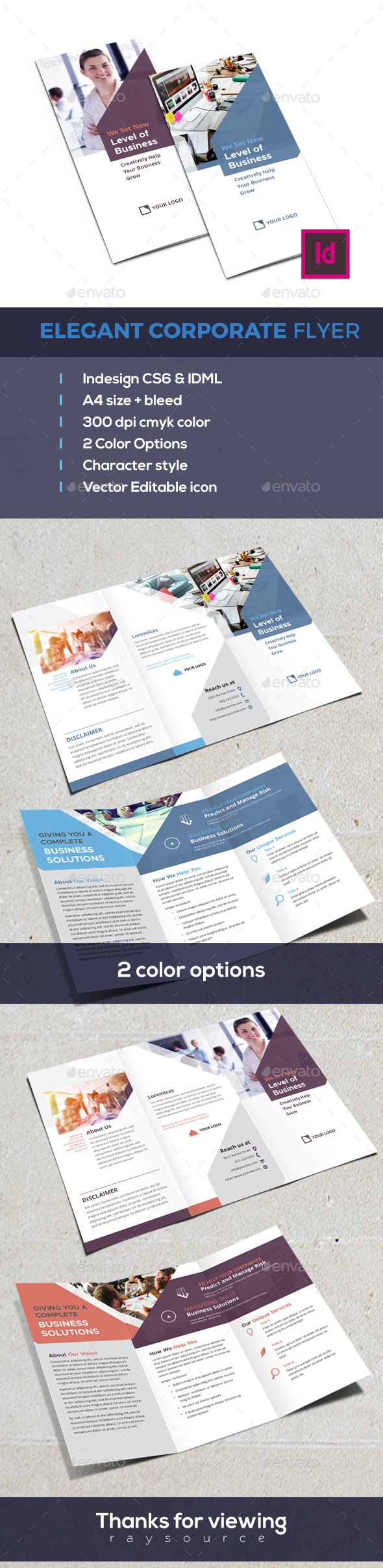Modern Trifold - Corporate Brochures