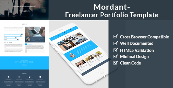 Mordant – Freelancer Portfolio Template