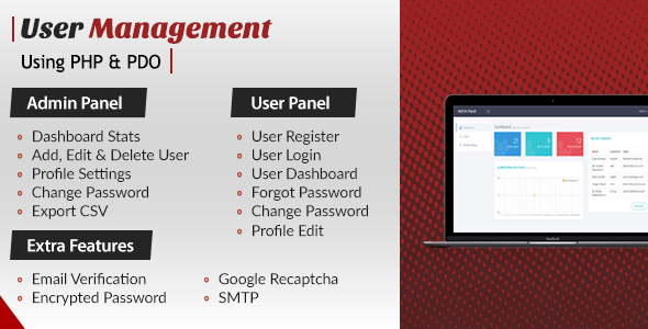 User Login Register and User Management - CodeCanyon Item for Sale