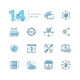 Connection - Coloured Modern Single Line Icons Set - GraphicRiver Item for Sale