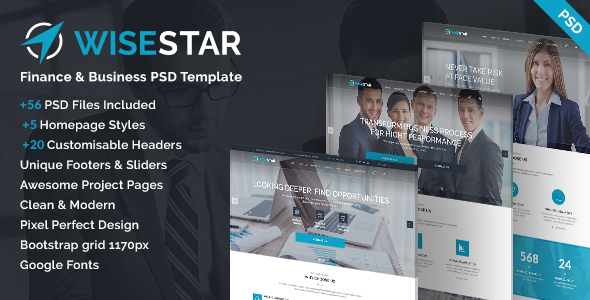 WiseStar – Finance & Business PSD Template