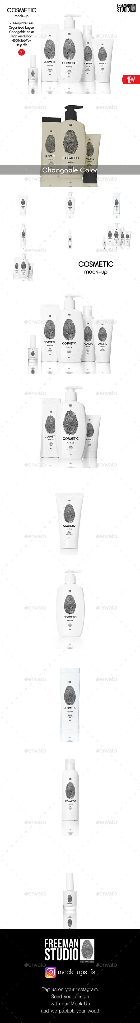 Cosmetic Mock-Up 2017 - Product Mock-Ups Graphics