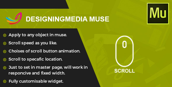 Scroll To Top - Muse Widget - CodeCanyon Item for Sale