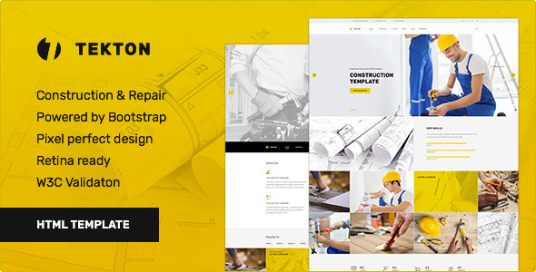 Tekton - Construction & Repair / Business Responsive HTML Template - Business Corporate