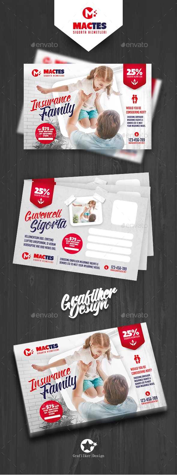 Insurance Postcard Templates - Cards & Invites Print Templates