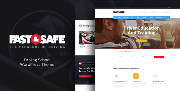 Fast & Safe | Driving School WordPress Theme