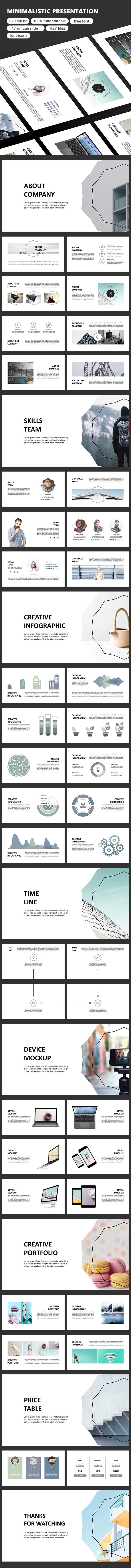 Minimalistic - Keynote Presentation - Business Keynote Templates