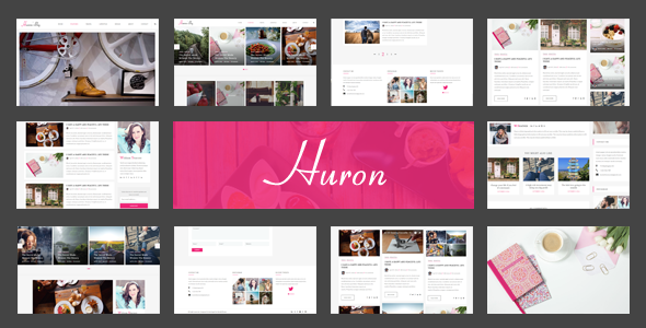 Huron - Clean & Elegant Blog HTML - Personal Site Templates