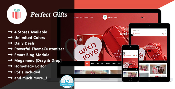 Perfect Gifts - Responsive Prestashop 1.7 Theme
