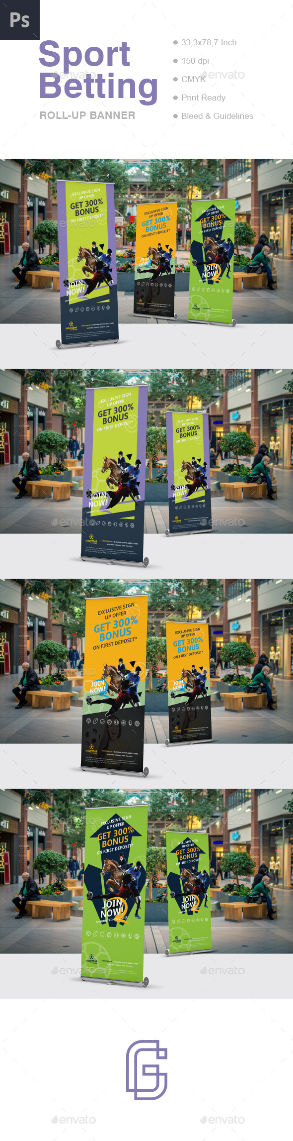 Betting Roll-Up Banner - Signage Print Templates