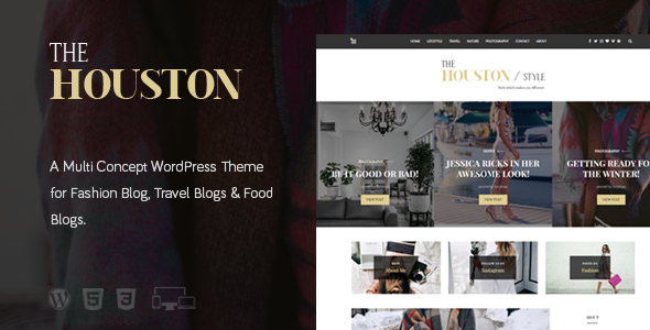 The Houston - Elegant Magazine Theme - Blog / Magazine WordPress