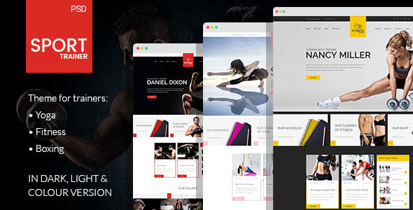 Sport Trainer - PSD Template