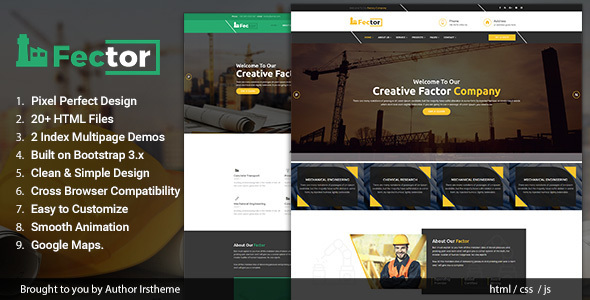 Fector – Factory & Industrial Business HTML Template