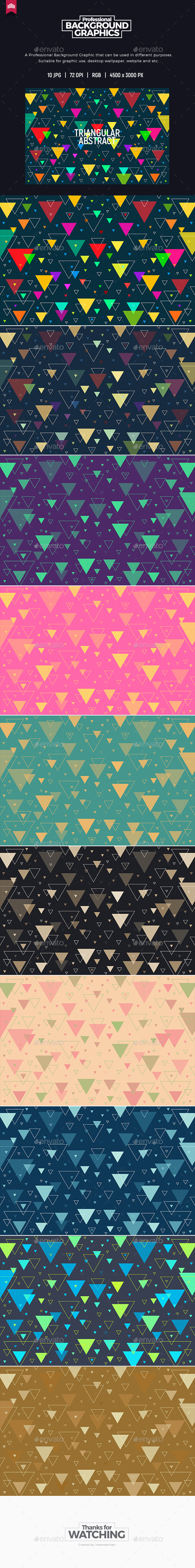 Triangular Abstract - Background - Abstract Backgrounds