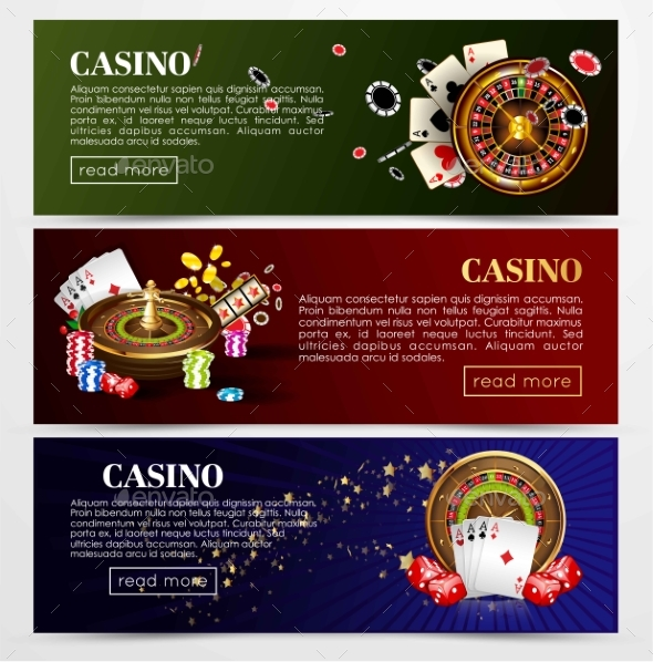 Casino Banners - Web Elements Vectors