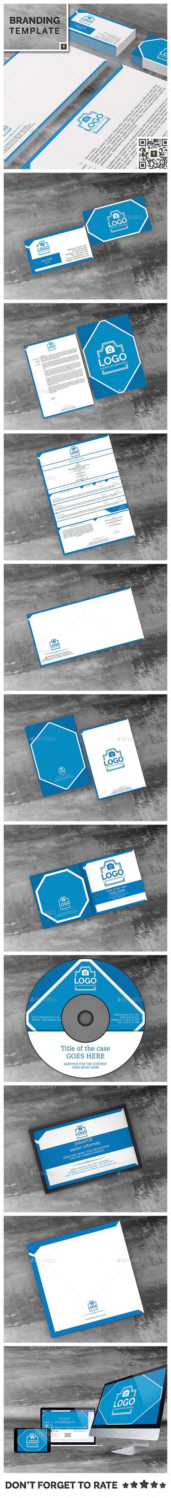 Law Firm Corporate ID Package - Stationery Print Templates