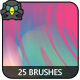 25 Streaky Artistic Brushes - GraphicRiver Item for Sale
