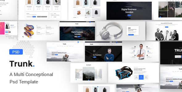 Trunk – Multipurpose PSD Template