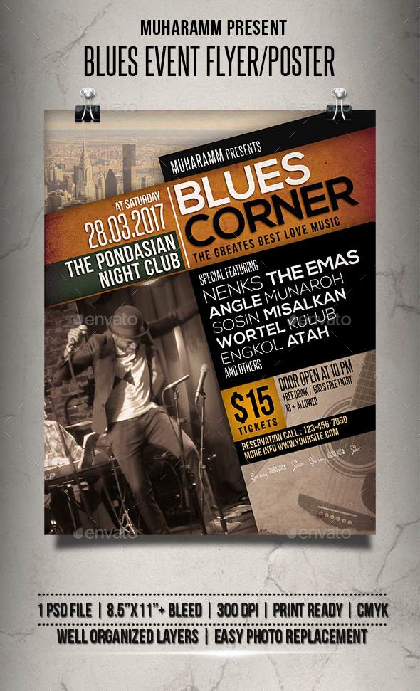 Blues Event Flyer / Poster - Events Flyers
