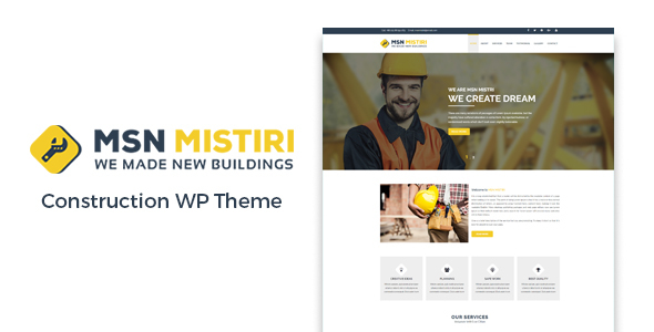Msn Mistiri – Construction WordPress Theme - Business Corporate