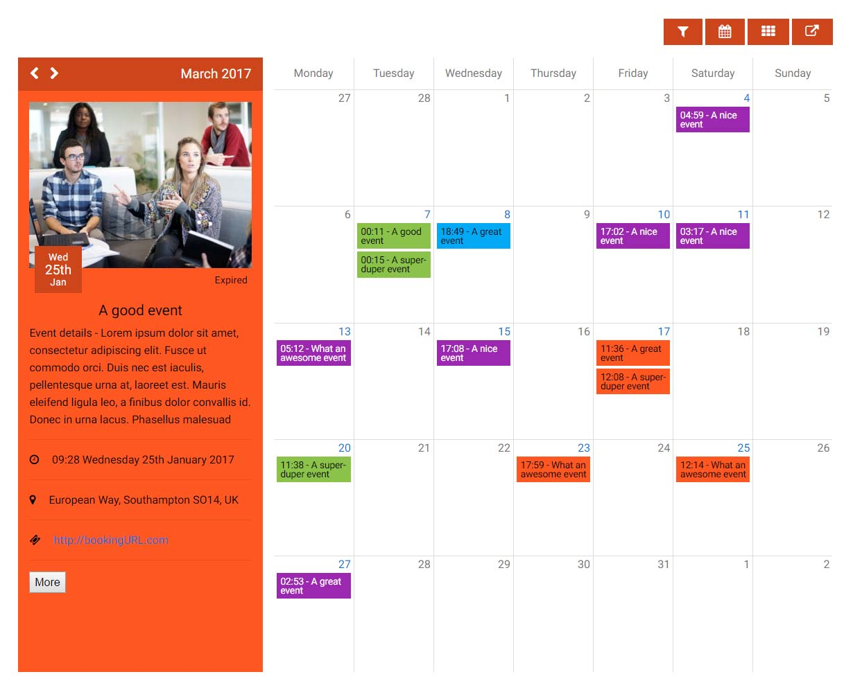 Kwik Event Calendar By Kwikbitzonline Codecanyon