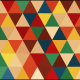 Seventies Colors Triangle Pattern Pack 1