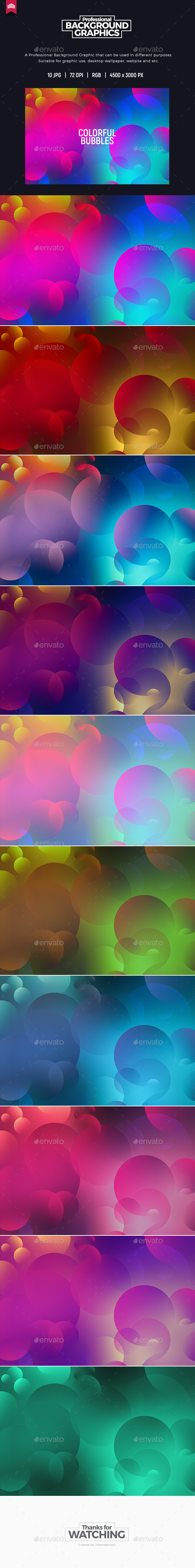 Colorful Bubbles Background - Abstract Backgrounds