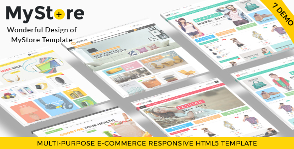 MyStore- Ultimate E-Commerce Responsive HTML Template & Theme