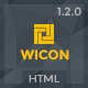 WICON | Construction & Building HTML Template Nulled