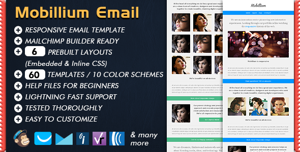 Mobillium - Responsive Email Newsletter - Email Templates Marketing