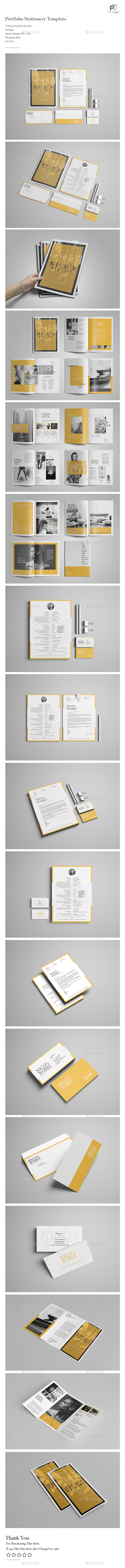 Portfolio Stationery Template - Portfolio Brochures