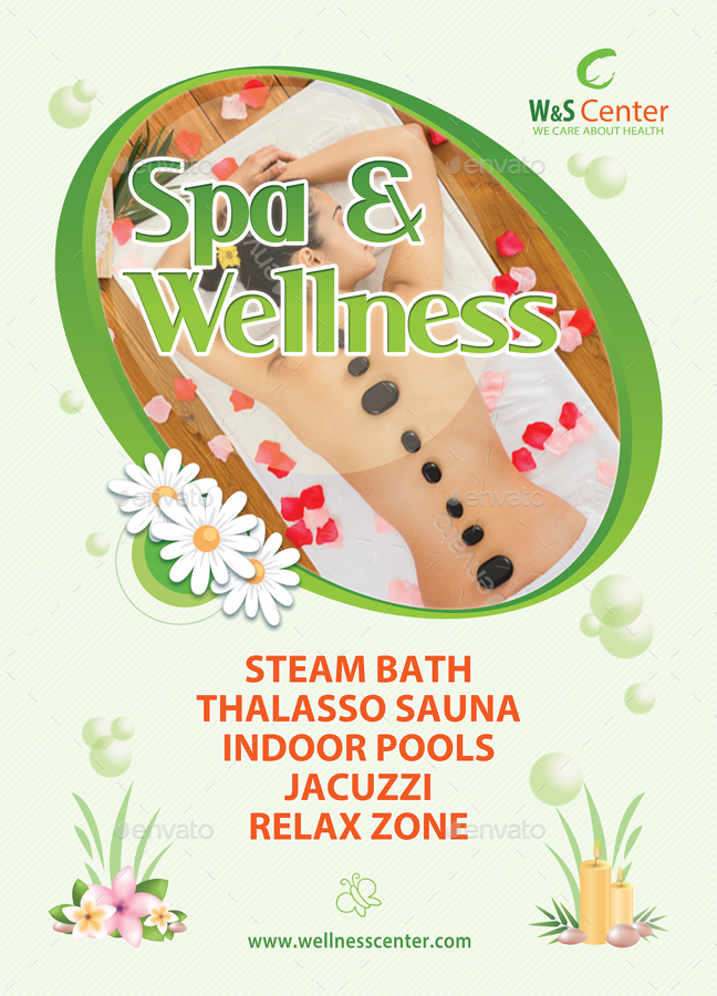 Fitness, Spa and Wellness Center Poster Template 53